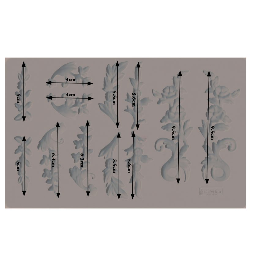 """Redesign Decor Moulds® - Delicate Flora - 5"""" x 8"""", 8mm thickness"""