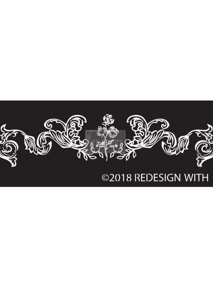 Redesign Adhesive Silk Screen Stencil - Adelaide Scrollwork