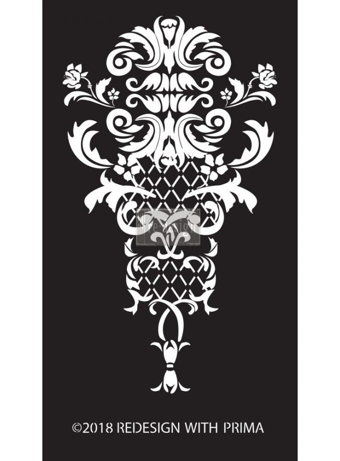 Redesign Adhesive Silk Screen Stencil - Sinclaire Regal