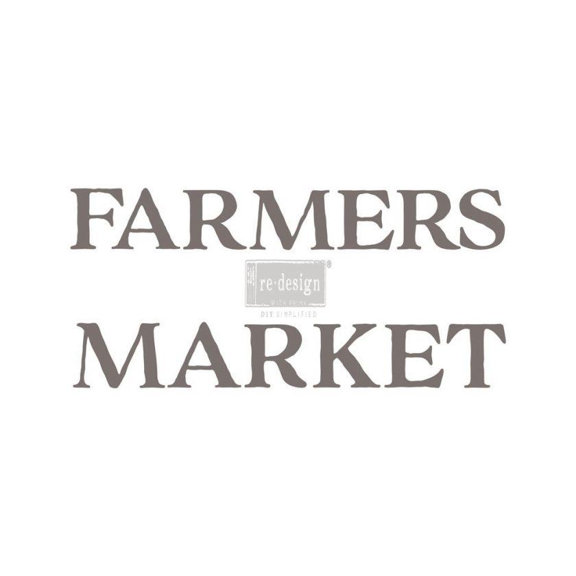 "Redesign Décor Transfers® - Farmers Market 12""x 26"""