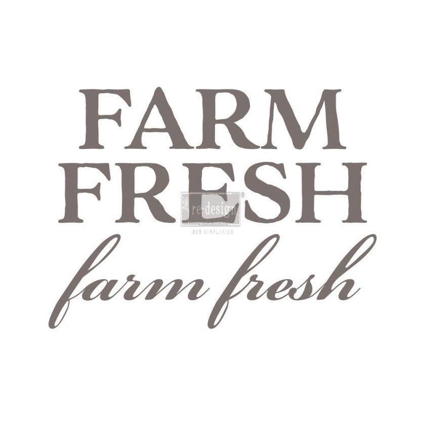 "Redesign Décor Transfers®- Farm Fresh 8""x 28"""