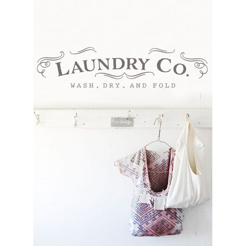 """Redesign Décor Transfers® - Laundry 7""""x 29"""""""