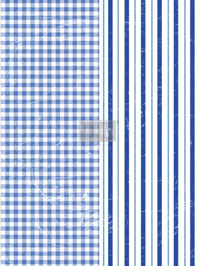 "Redesign Décor Transfers® - Gingham & Stripes 22""x30"""
