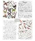 "Redesign Décor Transfers® - Parisian Butterflies 11""x15"" each design, total design 22""x30"""