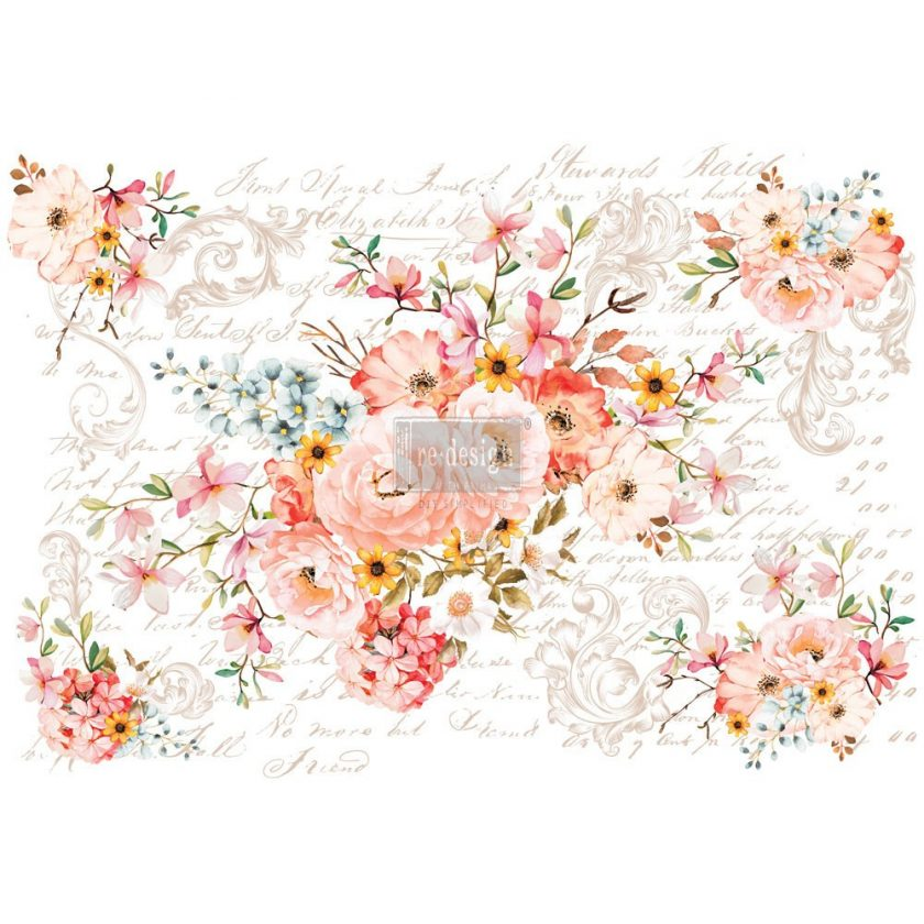 "Redesign Décor Transfers®- Rose Celebration 44""x 30"" 6 sheets"