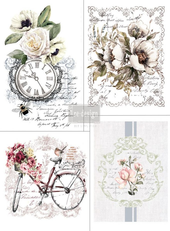 "Redesign Décor Transfers® - Bike Rides 11""x 15"" each design, total design 22""x30"""