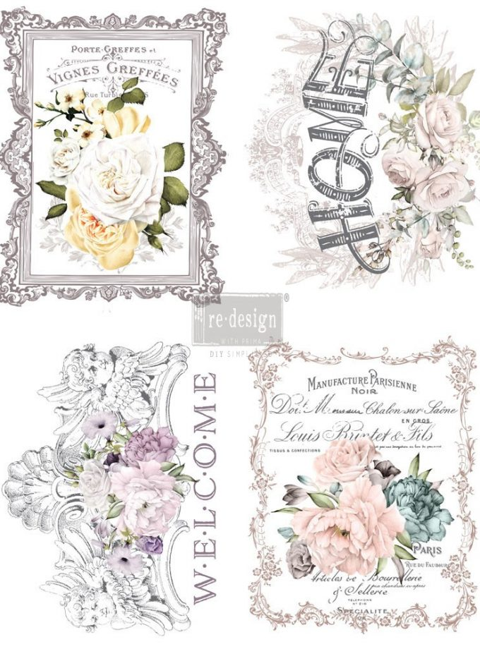 "Redesign Décor Transfers® - Floral Home 11""x 15"" each design"