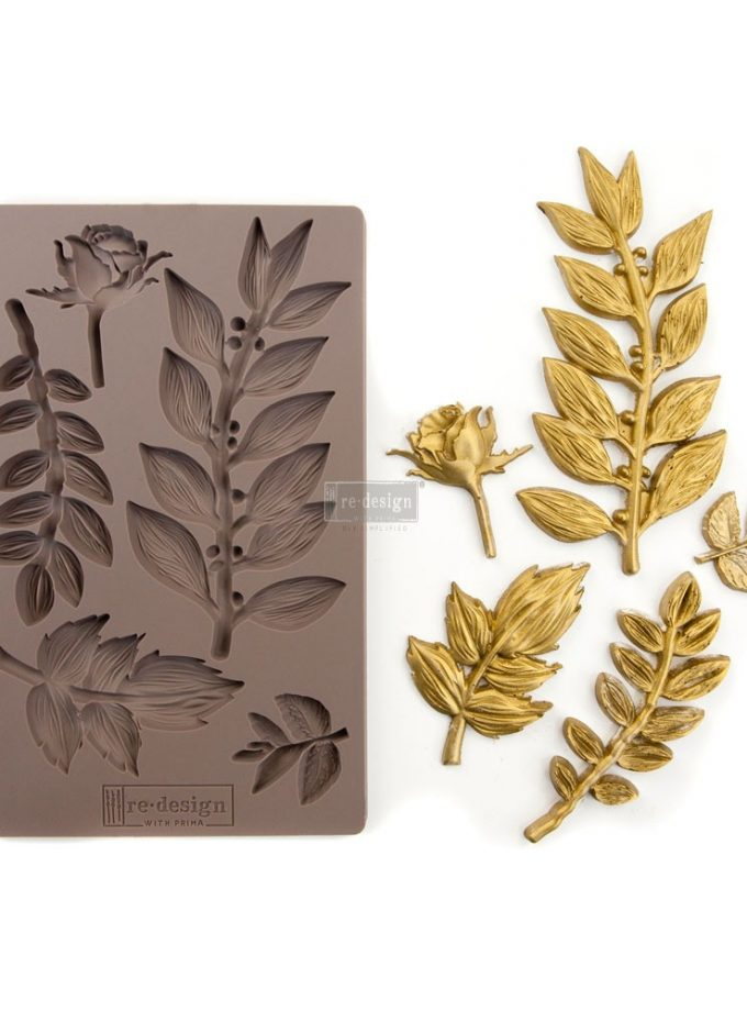 "Redesign Décor Moulds® 5""x8"" - Leafy Blossoms"