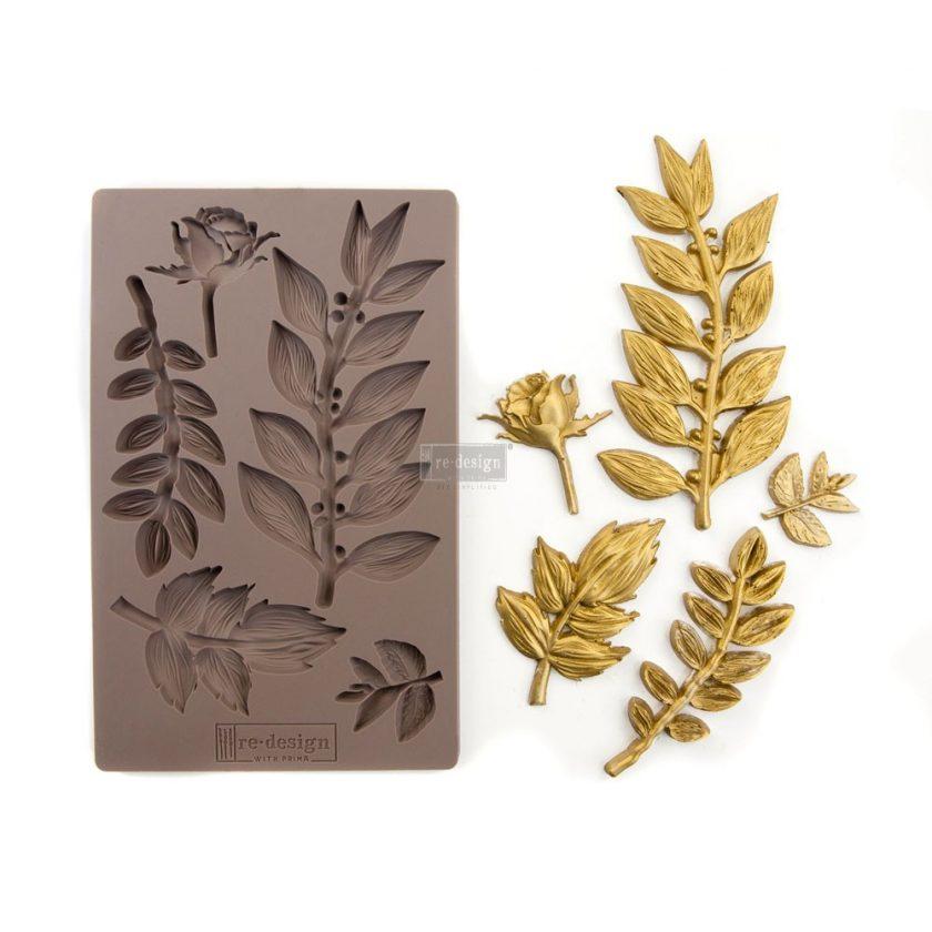 """Redesign Décor Moulds® 5""""x8"""" - Leafy Blossoms"""