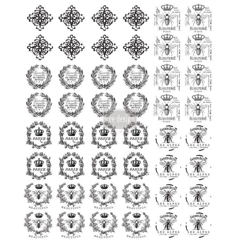 "Redesign Knob Transfer - Parisienne 8.5""X10.5"" Sheet size"