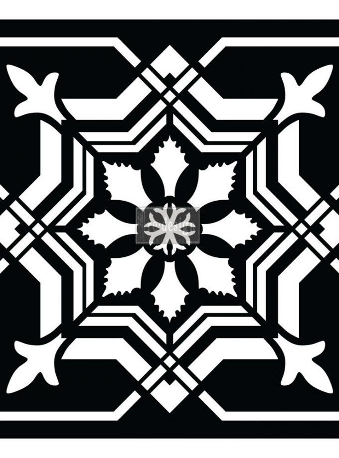 "Redesign Paver Stencil 11.5""x11.5""- Isabella"