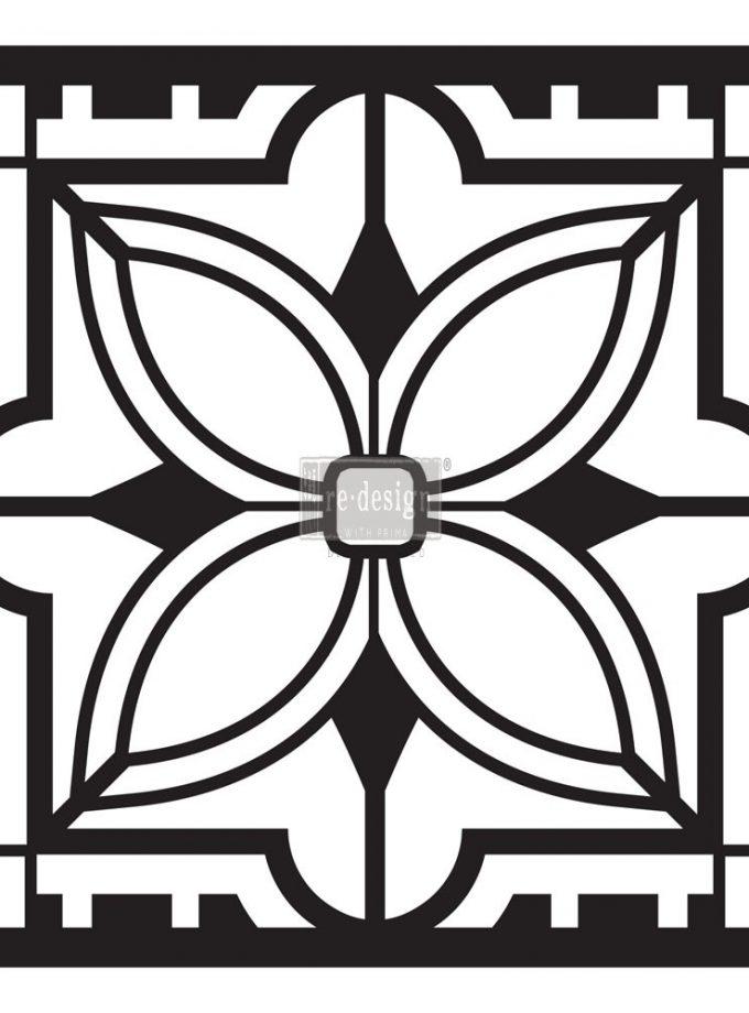 "Redesign Paver Stencil 11.5""x11.5""- Aria"