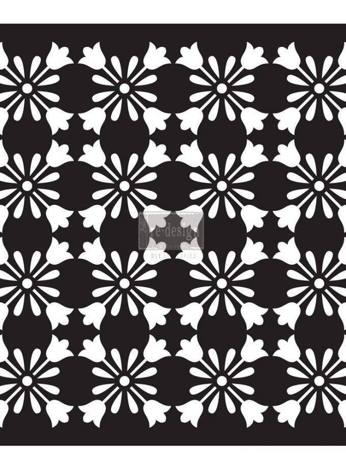 """Redesign Paver Stencil 11.5""""x11.5""""- Lia"""