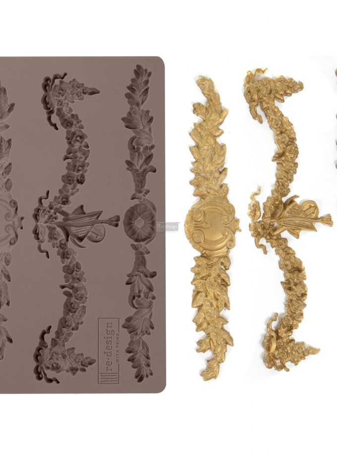 "Redesign Décor Moulds® -Glorious Garland 5""x 8"" 8 mm thickness"