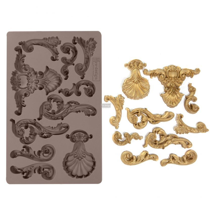 """Redesign Décor Moulds® - Oceanica Flourish 5""""x 8"""" 12mm thickness"""