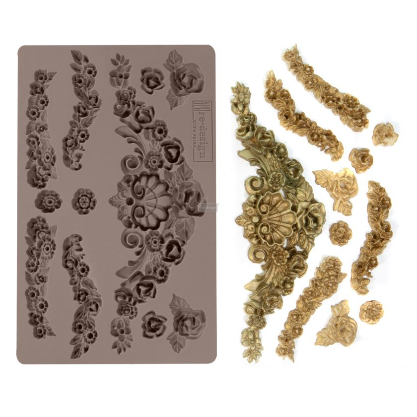 """Redesign Décor Moulds® -Tillurie Flourishes 5""""x 8"""" 12mm thickness"""