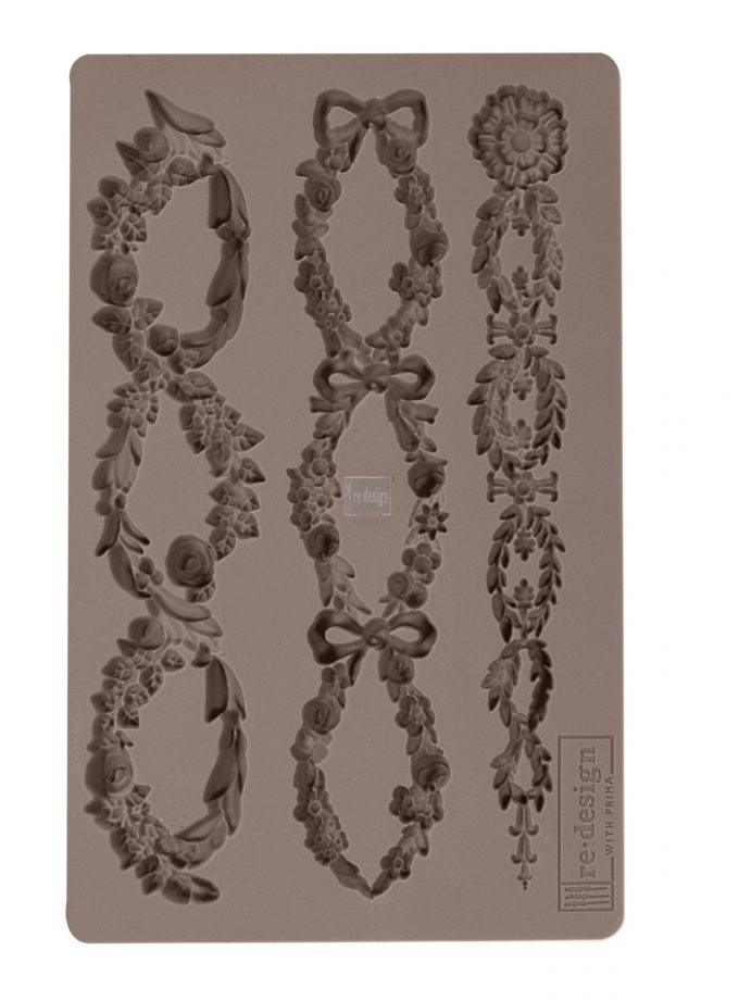 "Redesign Décor Moulds® -Floral Chain 5""x 8"" 8 mm thickness"