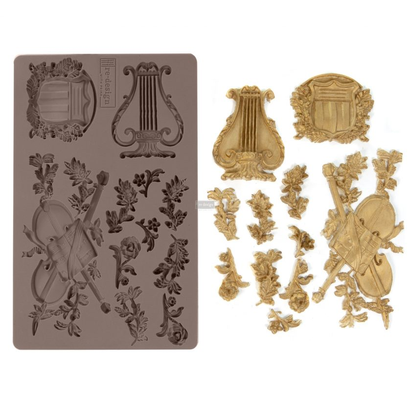 """Redesign Décor Moulds® -Musical Journey 5""""x 8"""" 8 mm thickness"""