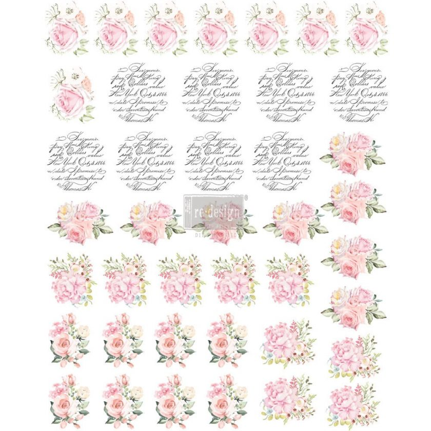 "Redesign Knob Transfer - May Flowers 8.5""X10.5"" Sheet size"