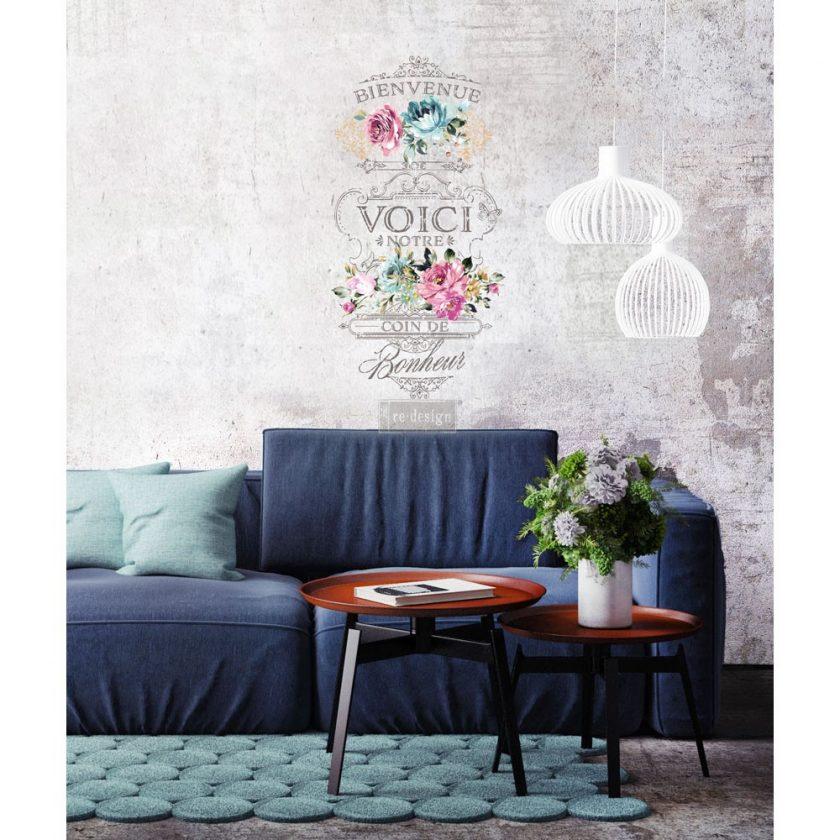 "Redesign Décor Transfers® - Fuchsia Sunset 22""x 30"""