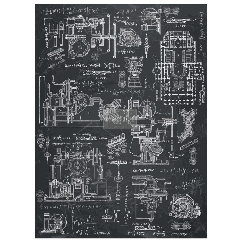 "Redesign Décor Transfers® - Industrial Mechanics 22""x 30"""