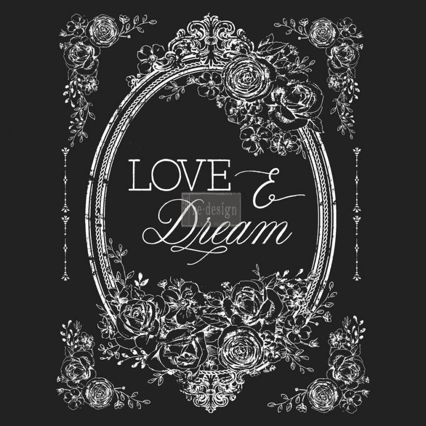 "Redesign Décor Transfers® - Love & Dream 22""x 30"" white color transfer"