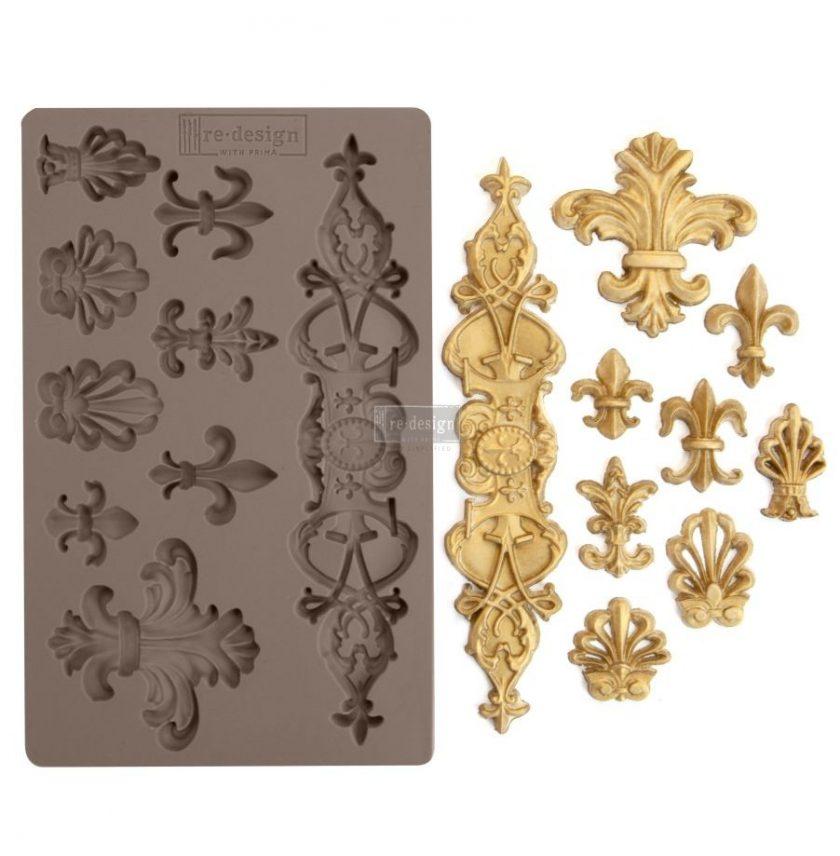 """Redesign Décor Moulds® 5""""x8"""" - Fleur De Lis"""