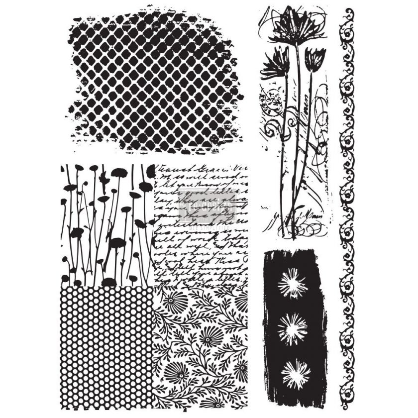 """Redesign Adhesive Transfer - Nature & Scripts 18""""x24"""""""