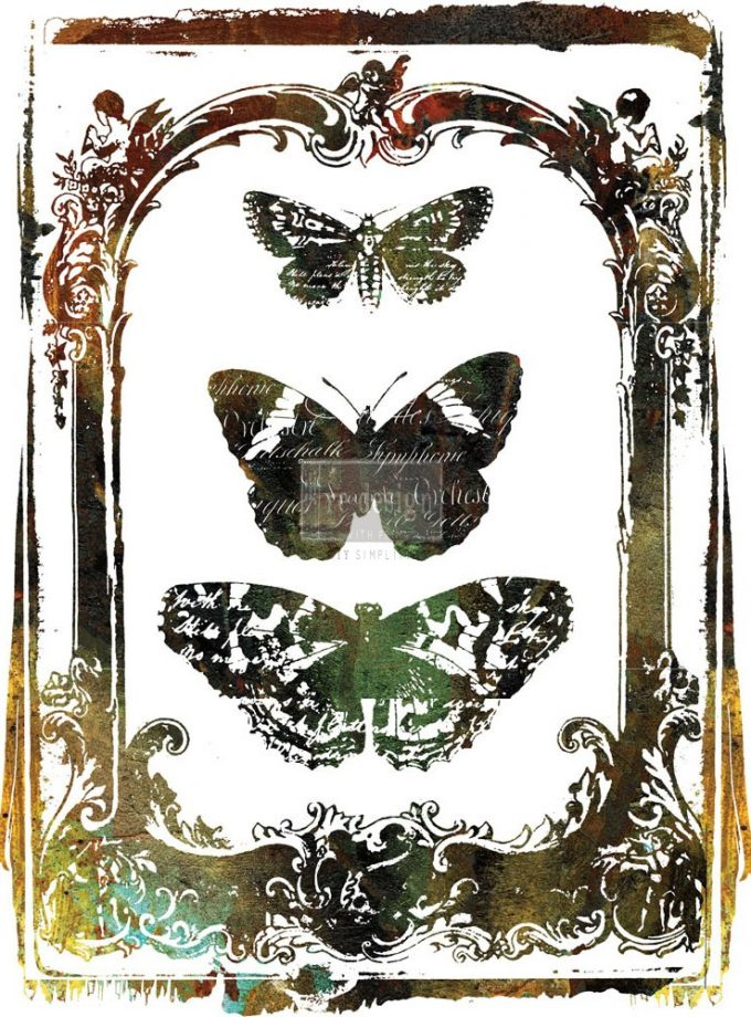 """Redesign Décor Transfers® - Butterfly Frame 24""""x 34"""""""