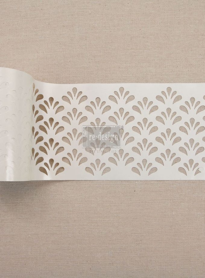 "Redesign Stick & Style Stencil Roll 4"" 15 yards- Eastern Fountain"