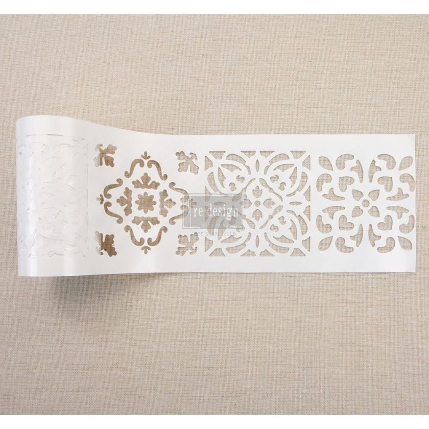 """Redesign Stick & Style Stencil Roll 4"""" 15 yards- Casa Blanca Tile"""