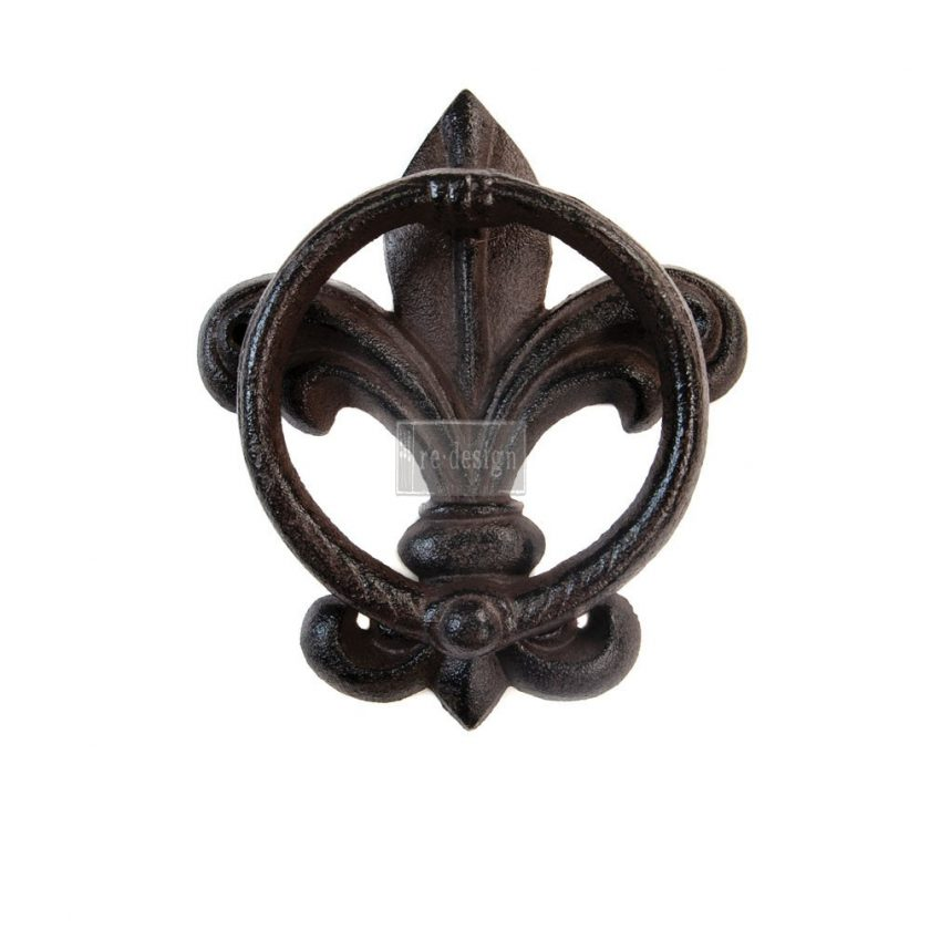 Redesign Cast Iron Knocker - Fleur De Lis Vintage Knocker