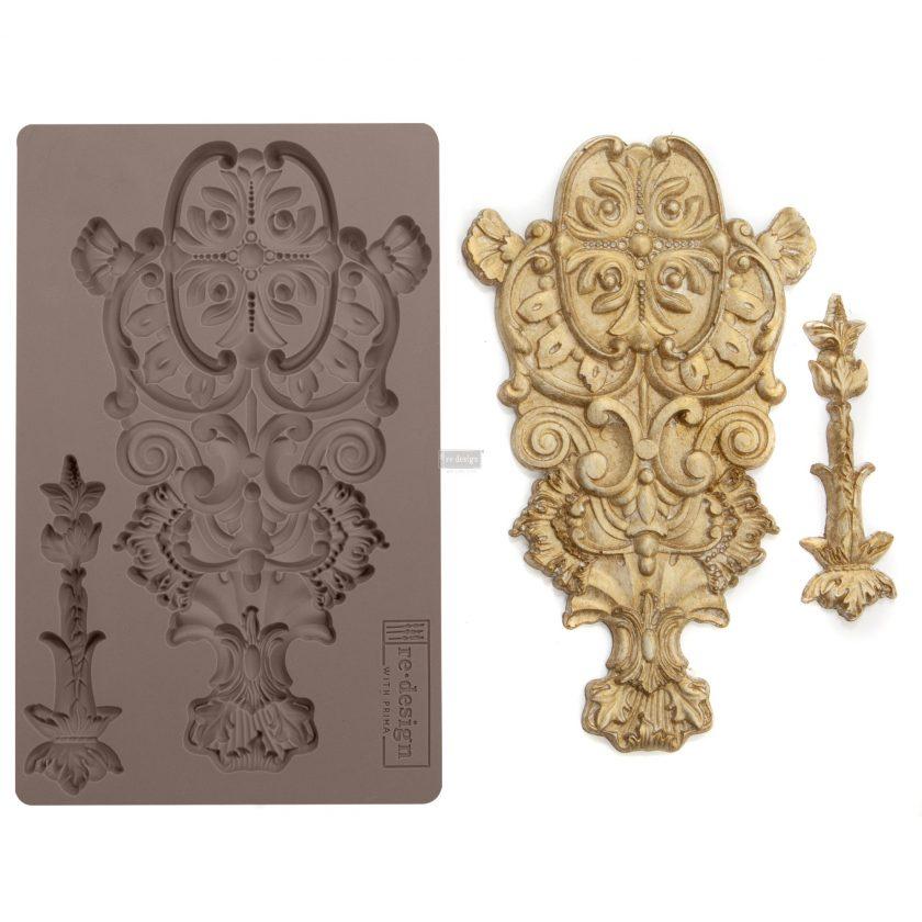 "Redesign Décor Moulds® -Garden Emblem 5""x 8"" 8 mm thickness"