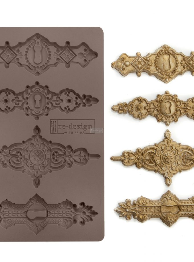 """Redesign Décor Moulds® -Tulumn Keyholes 5""""x 8"""" 8 mm thickness"""