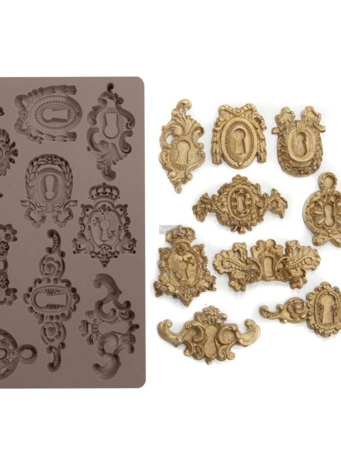 "Redesign Décor Moulds® -Grandeur Keyholes 5""x 8"" 8 mm thickness"