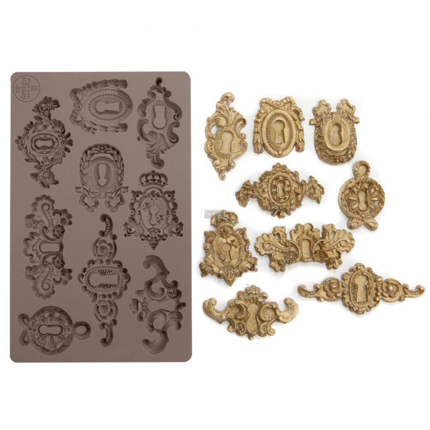"Redesign Décor Moulds® -Grandeur Keyholes 5""x 8"" 8 mm thickness"