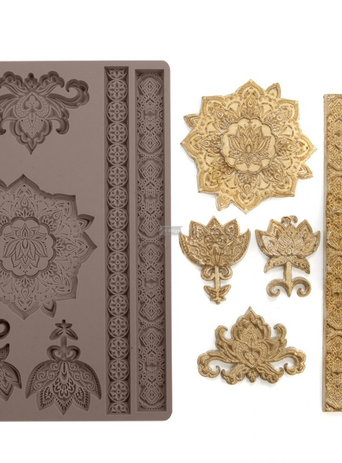 "Redesign Décor Moulds® -Agadir Patterns 5""x 8"" 8 mm thickness"