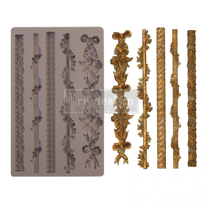 "Redesign Decor Moulds® - Sicilian Borders - 5"" x 8"", 8mm thickness"