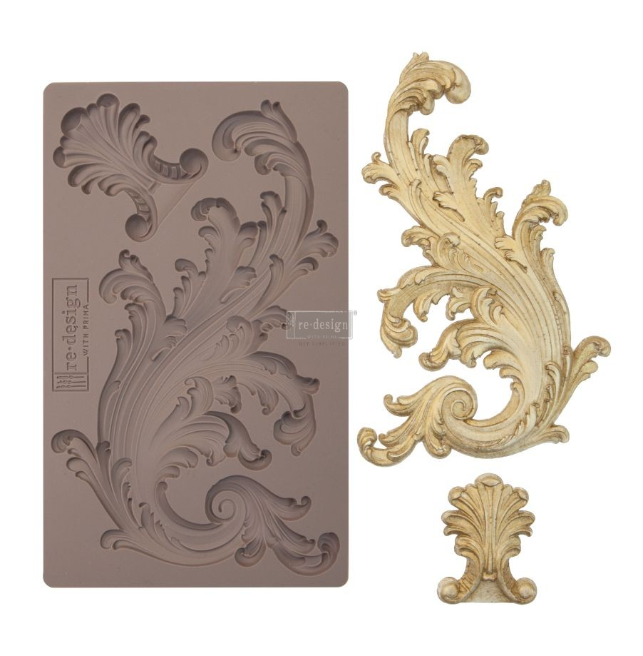 """Redesign Décor Moulds® 5""""x8"""" - Portico Scroll I"""
