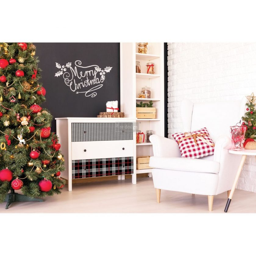 """Redesign Décor Transfers® - Gingham Black size 23""""x 33"""""""