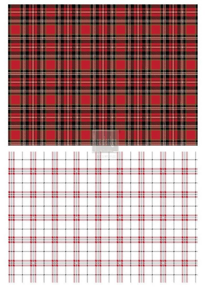 "Redesign Décor Transfers® - Gingham Red size 23""x 33"""