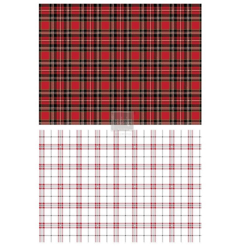 """Redesign Décor Transfers® - Gingham Red size 23""""x 33"""""""