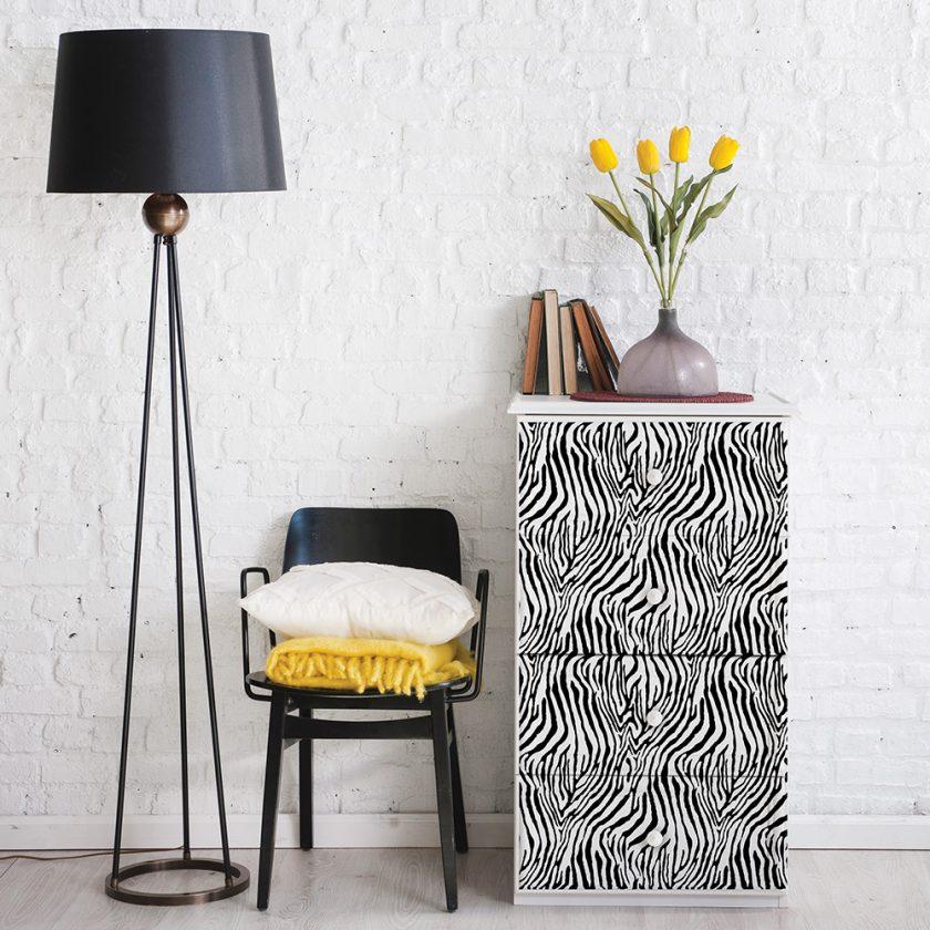 "Redesign Decor Transfers® - Zebra design size 24"" X 32"""