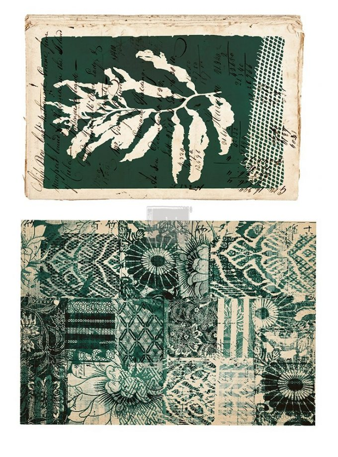 "Redesign Décor Transfers® - Algae Print size 13.5""x 22.5"" and 15""x23"""