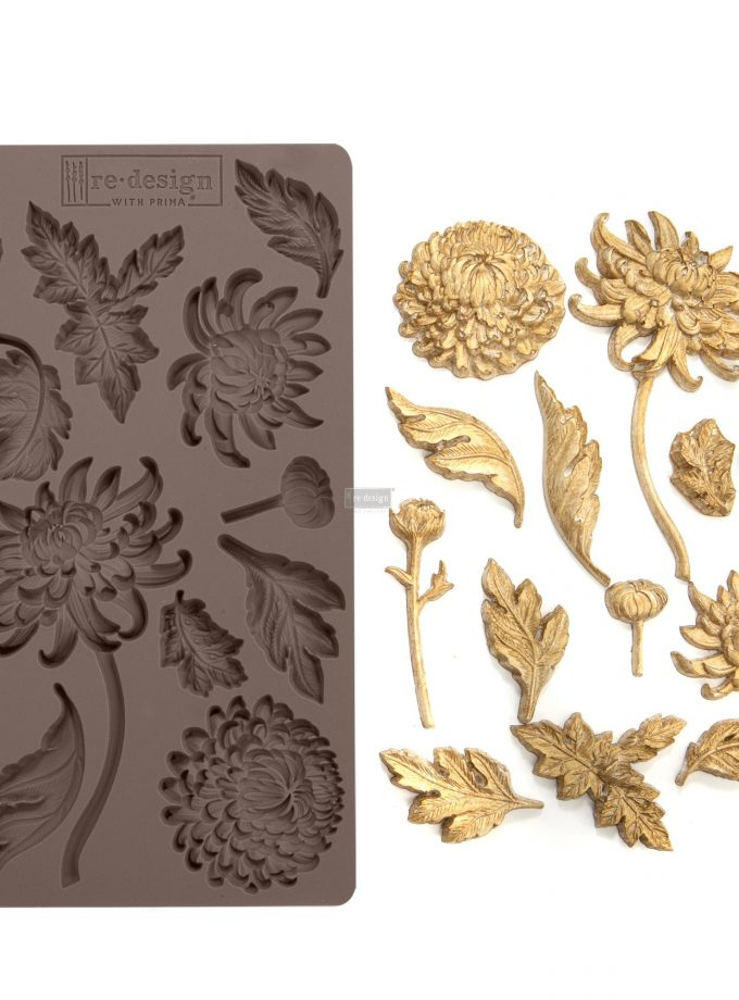 "Redesign Décor Moulds®- Botanist Floral 5""x 8"" 8 mm thickness"