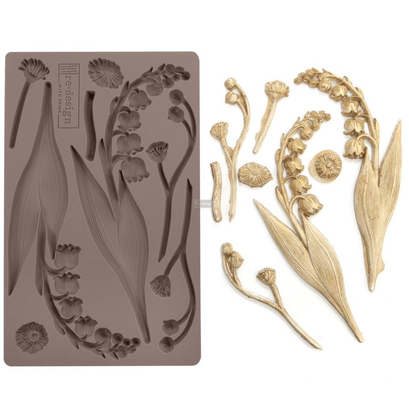 "Redesign Décor Moulds®- Bell Orchids 5""x 8"" 8 mm thickness"
