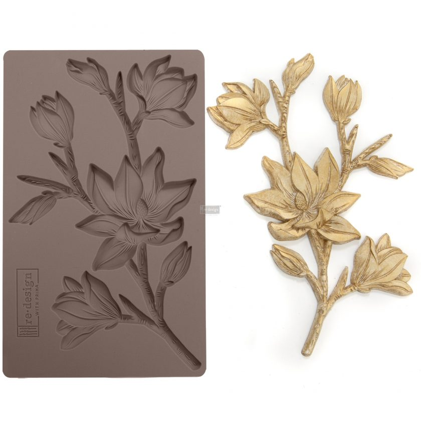 "Redesign Décor Moulds®- Forest Flora 5""x 8"" 8 mm thickness"