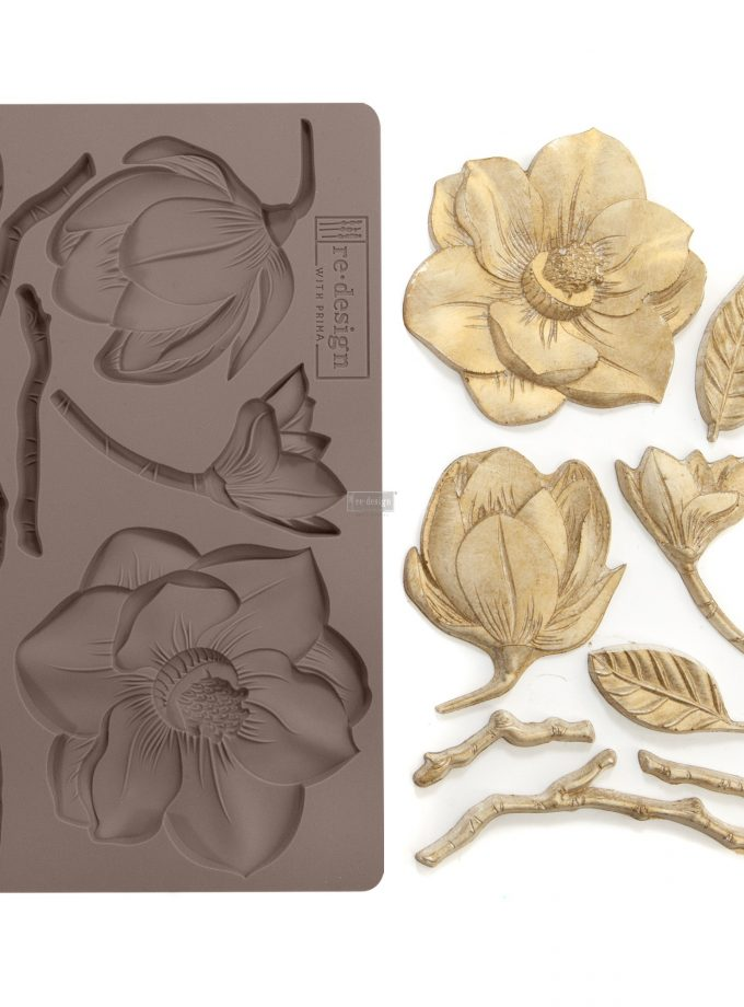"Redesign Décor Moulds®- Winter Blooms 5""x 8"" 8 mm thickness"