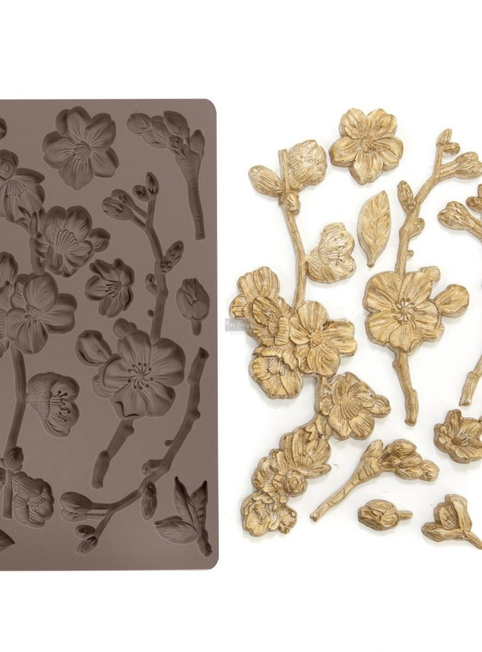 "Redesign Décor Moulds®- Cherry Blossoms 5""x 8"" 8 mm thickness"