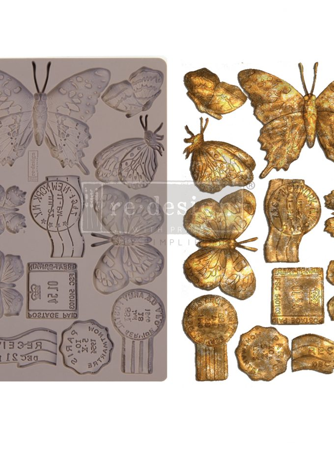 """Redesign Decor Moulds® - Butterfly In Flight - 5"""" x 8"""", 8mm thickness"""